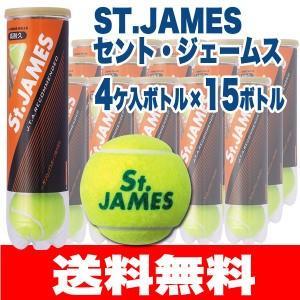 硬式テニスボール ダンロップ セントジェームス 4球×15缶 60球 5ダース 練習球 [新パッケー...