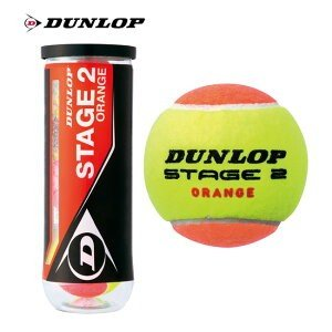 ダンロップ(DUNLOP)ジュニア用テニスボール ステージ2(オレンジ)STAGE2 ORANGE(3個ボトル)(STG2ORB3DOZ) キッズ  子供 硬式用 硬式 グッズ 小物 プレゼント|tennis