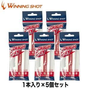 タフドライ 5本セット[ホワイト] ウィニングショット[M便 1/2]|tennis