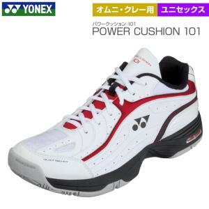 ヨネックス Yonex パワークッション101 オムニ・クレー用 レッド×ブラック ユニセックス POWER CUSHION 101 SHT-101|tennis