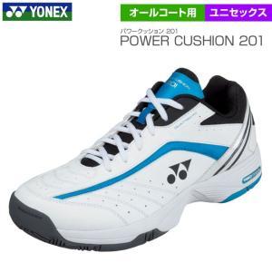 ヨネックス Yonex パワークッション201 オールコート用 ホワイト×ライトブルー ユニセックス POWER CUSHION 201 SHT-201|tennis