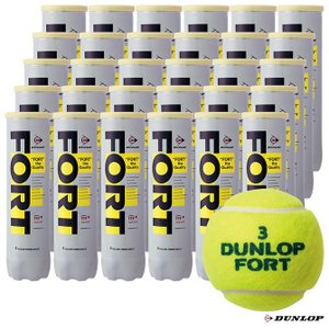 ダンロップ(DUNLOP) テニスボール FORT(フォート)4球入 1箱(30缶/120球)|tennisjapan