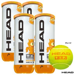 【応援クーポン10%OFF対象商品:8月20日まで】ヘッド HEAD  テニスボール T.I.P.オレンジ 3球入り(4缶) 578123 tennisjapan