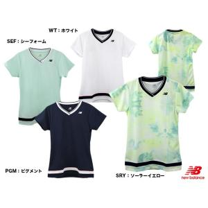 ニューバランス(new balance) テニスウェア レディース V-ネックゲームシャツ JWTT8018
