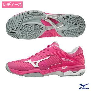 ミズノ(MIZUNO)ウェーブエクシードツアー 3 OC ピンク×ホワイト×ピンク オムニ・クレーコ...