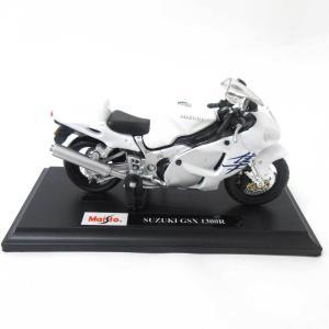 Maisto 1/18 ミニチュア オートバイ SUZUKI GSX 1300R リアルバイク スペ...