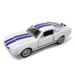 KiNSMART キンスマート プルバックミニカー 1/44 1967 シェルビー GT500 ホワ...