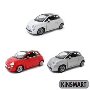 KiNSMART キンスマート プルバックミニカー 1/28 フィアット500 2007 4色セット...