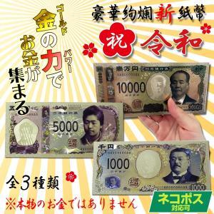 豪華絢爛 令和の新紙幣 カラー 壱萬円札 五千円札 千円札 金運 お守り
