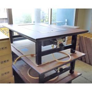 お好み焼きテーブル 都市ガス 業務用 中古/送料別途見積 幅1200×奥行800×高さ330|tenpos