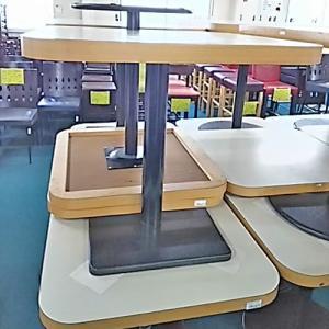 洋風テーブル白 小  業務用 中古/送料無料 幅750×奥行700×高さ700|tenpos