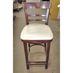 カウンターチェア 中古 椅子 イス いす 業務用 座面クリーム 幅420×奥行400×高さ970|tenpos