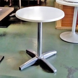 丸テーブル 白  業務用 中古/送料無料 幅600×奥行600×高さ740|tenpos