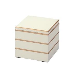 おせち 重箱3段 校倉重 白渕金 6.5寸3段/グループD|tenpos