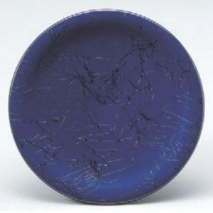 回転寿司皿 寿司皿ブルー黒乱糸  高さ21 直径:150 (業務用食器)(グループI)