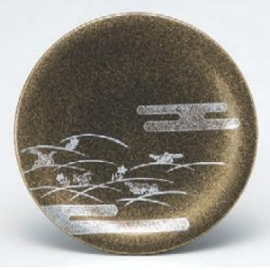 回転寿司皿 寿司皿梨地秋草  高さ21 直径:150 (業務用食器)(グループI)