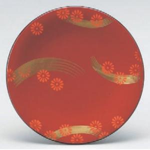 回転寿司皿 寿司皿朱小梅流れ  高さ21 直径:150 (業務用食器)(グループI)