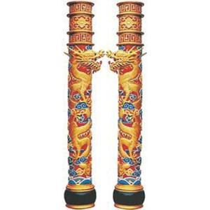 商品名:AP-1701 龍の柱(一対) FRP製 寸法:高さ3020mm×直径:510 メーカー:カ...