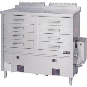 蒸器 業務用 MUD-24C MARUZEN マルゼン 引出し8個 2槽式 ガス式 ドロワータイプ 送料無料|tenpos