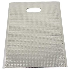 アルミ保冷バッグ ミナクールパック C4 平袋 持ち手穴付 LL 365×475mm 50枚 酒井化学工業の商品画像|ナビ