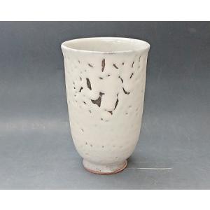【萩焼 フリーカップ】 白萩ビアカップ<14-2A>|tenryu