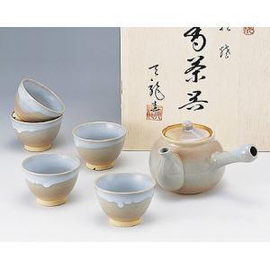 【萩焼 茶器】 姫萩茶こし付茶器揃<2-38>|tenryu