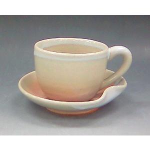 【萩焼 コーヒー碗皿】 姫萩珈琲器<6-1A>|tenryu