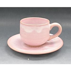 【萩焼 コーヒー碗皿】 モモイロ 珈琲器<GP7-18A>|tenryu