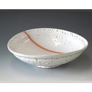 【萩焼 酒器】 白萩たわみ大鉢<S5-34>|tenryu