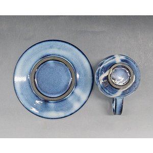 【萩焼 コーヒー碗皿セット】 萩藍珈琲器5客<SE7-18>|tenryu|03