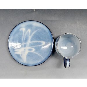 【萩焼 コーヒー碗皿】 萩藍珈琲器<SE7-18A> tenryu 02