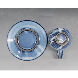 【萩焼 コーヒー碗皿】 萩藍珈琲器<SE7-18A> tenryu 03