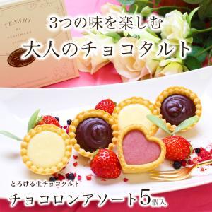 あすつく 春ギフト チョコロンアソート(5個入) チョコレート タルト 320万個完売!クッキーとチョコレートのハーモニー、かわいいプチギフトで感謝の気持ちを!