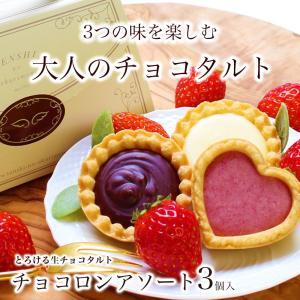 あすつく 春ギフトチョコロンアソート(3個入)チョコレート タルト クッキーとチョコレートのハーモニー、ご挨拶にプチギフト!!ご入学・ご卒業・春のお祝いに