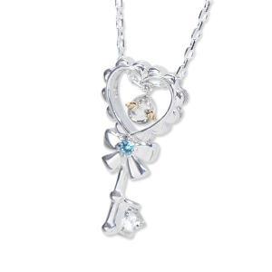 ネックレス レディース シルバーペンダント 天使の卵 Heartful Key  天使1182BT