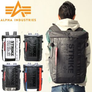 MA−1が大人気の注目ブランド 【ALPHA/アルファ】から 四角いフォルムがオシャレなバックパック...