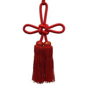 人絹揚巻房3寸赤 (レターパックプラス便可)|tenten-tent