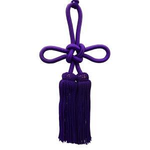 人絹揚巻房3寸紫 (レターパックプラス便可)|tenten-tent