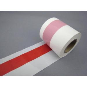 ビニール紅白テープ8cm×50m|tenten-tent