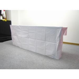 ビニールテーブルクロス(ボックスタイプ)450巾用−白−タレ付(5枚入)|tenten-tent