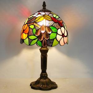 ステンドグラスランプ ステンドグラス テーブルランプ おしゃれ 卓上ライト LED アンティーク レトロ 北欧の画像