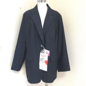 カプリーヌ大きいサイズ春夏シングルジャケット紺30号|tentoumusi-recycle