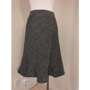 MBミントブリーズ 大きいサイズヘリンボーンひざ丈スカート|tentoumusi-recycle