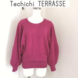 Techichi TERRASSE ボリュームスリーブニット ピンク|tentoumusi-recycle