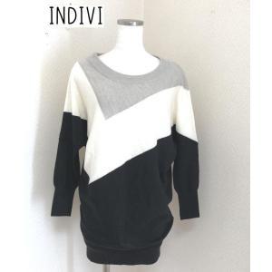 INDIVI  3トーン プルオーバーニット 38号|tentoumusi-recycle