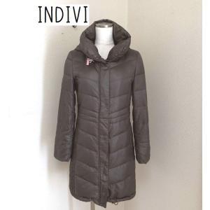 INDIVI 【撥水加工】フーデットロングダウンコート|tentoumusi-recycle