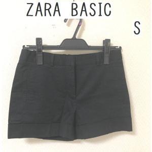 セール ZARA ロールアップショートパンツ黒 XS tentoumusi-recycle