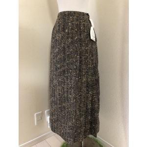 インゲボルグ リボン編み込みツィードロングスカートS 冬|tentoumusi-recycle