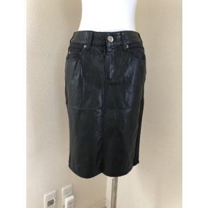 soeur7(スール)レザー切り替え タイトスカート黒|tentoumusi-recycle