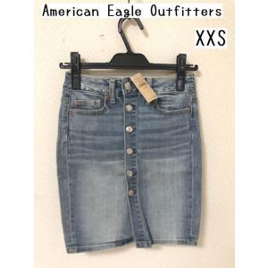 セール American Eagle Outfitters ボタンフライ デニムタイトスカート XXS tentoumusi-recycle